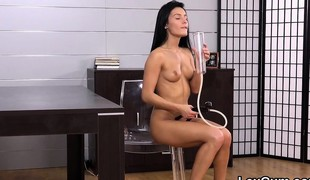 Exquisite czech peach lexi dona fingers and receives off