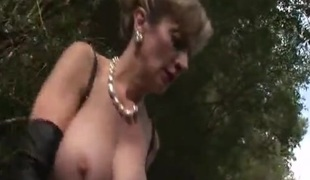 Masturbating And Pissing In The Woods