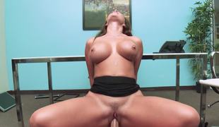 Sexy office bitch Destiny Dixon fucking the big shlong boss