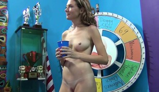 Hawt little Alison sucks, toys and gets nailed before taking a mouthful