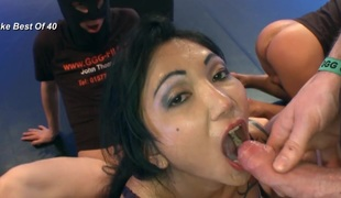 Asian cum guzzling slut fucked