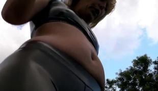 Sexy Gazoo and Camel toe - Smokin' Outdoors