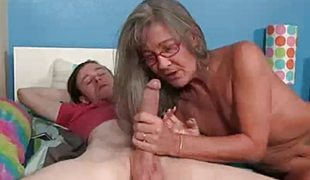 Milf Empties Step-son's Balls Engulfing His Thick Dick