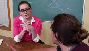 Hot student turns on a cock-loving teacher