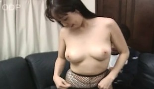 Breasty Japanese babe Mayu toys herself, gets drilled and swallows a load