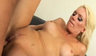 Buxom milf Monica Mayhem worships and copulates Manuel Ferrara's big pole