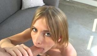 kjønn blonde deepthroat blowjob onani sædsprut facial massasje fingring leketøy