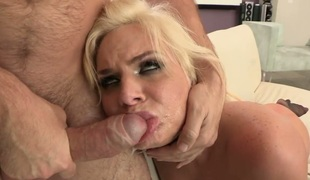 Phoenix Marie with huge hooters gets a mouthful of dong in oral action with Manuel Ferrara in advance of this babe gets cornholded