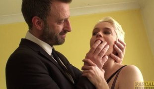 Mila Milan is the short-haired chick who just loves the anal poking!