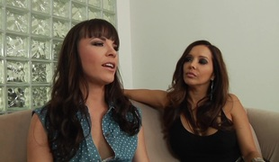 Mark Wood shows his ass-drilling skills to two brunettes in FFM clip