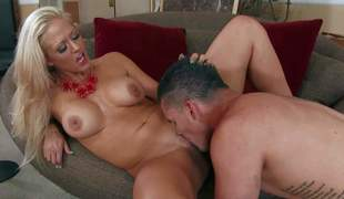 Holly Heart is his allies sinfully hot milf mom. Big tits, taut smooth pussy and great raunchy experience make make her a perfect sex partner for unpredictable intensify younger guys like Clover. They have a spot on target tine banging