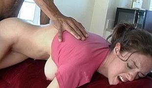 Girl screams in pain as Big Cock enters her