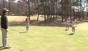Legal Age Teenager golfer gets her pink pounded on the green!